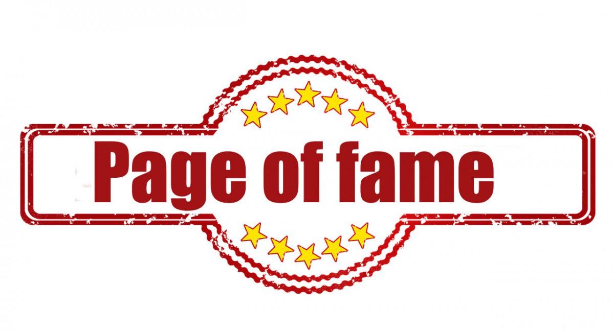 logo van page of fame