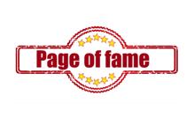 Nieuw op de site: Page of Fame
