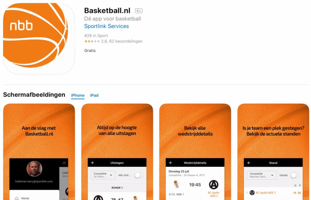 NBB / Sportlink app