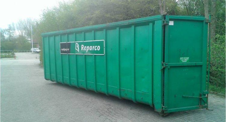Papiercontainer stopgezet